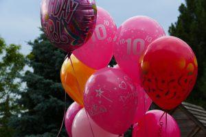 10th birthday balloons