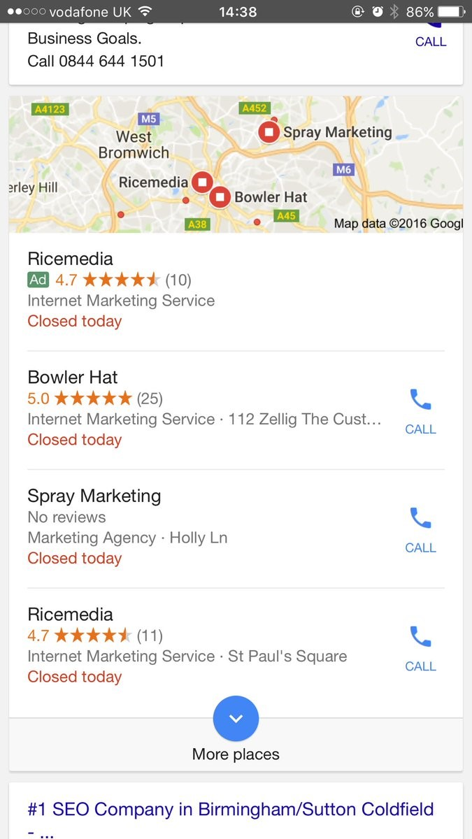 Google PPC Paid in Local Pack