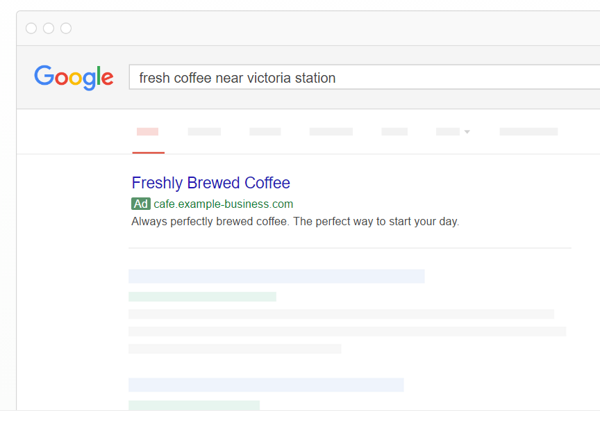 Google PPC advert