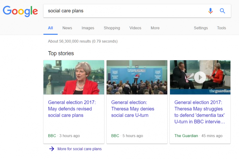 social care plans search