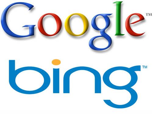 Google Bing logos