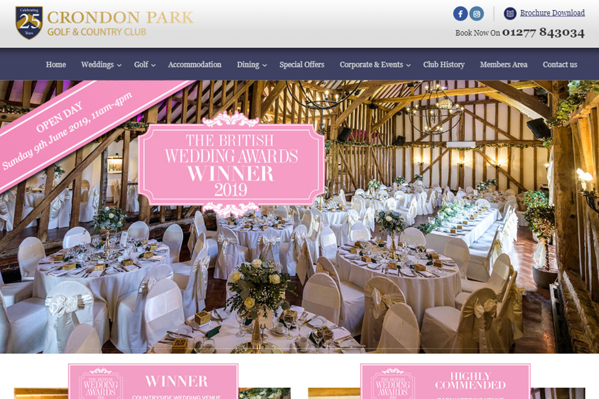 Crondon Park Homepage Screenshot